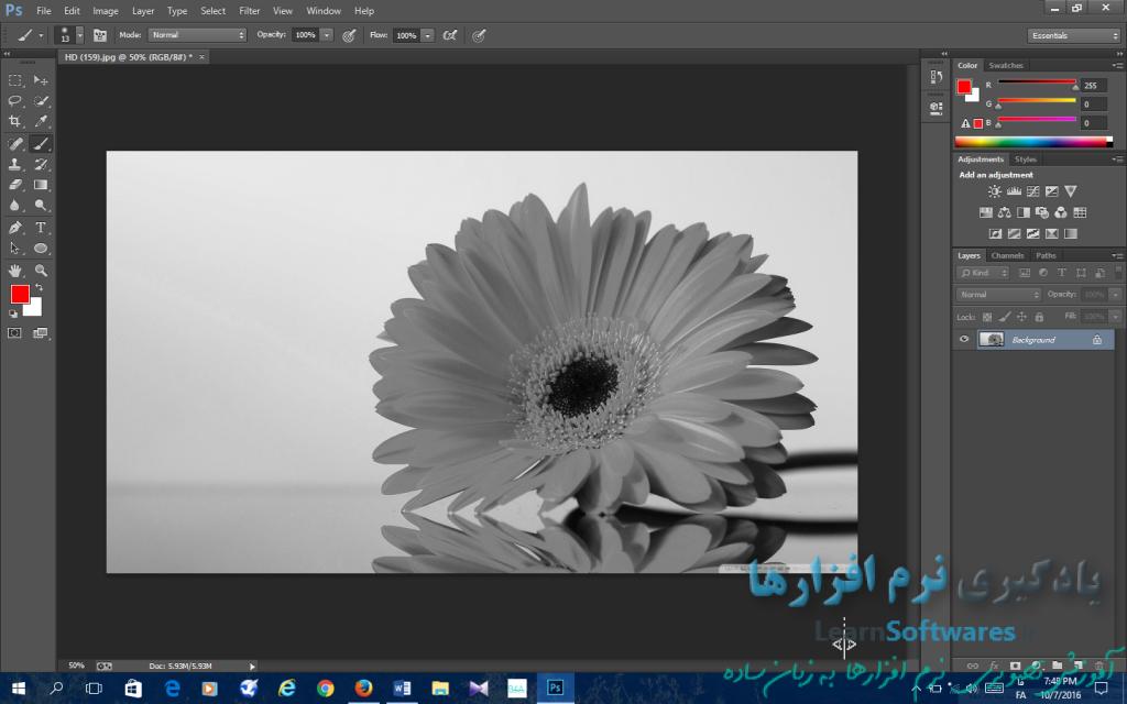 سیاه و سفید کردن آسان تصویر رنگی
