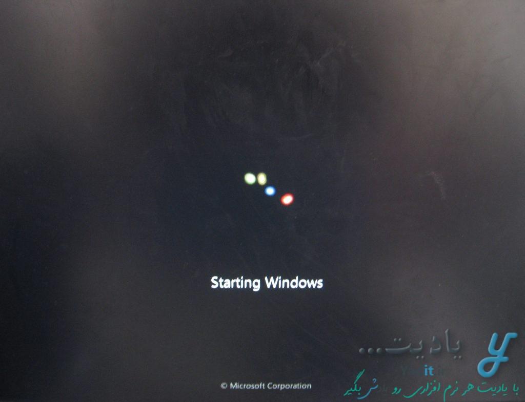 بالا آمدن نصب ویندوز 7