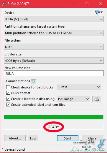 فعال کردن قابلیت بوت فلش و کپی فایل ها داخل آن با استفاده از نرم افزار Rufus