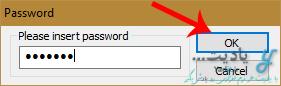 وارد کردن رمز عبور برای استخراج فایل های داخل فایل اجرایی فشرده شده توسط نرم افزار KGB Archiver