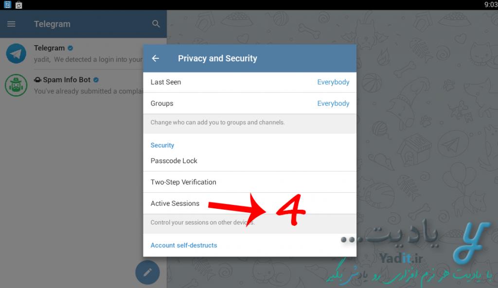 چگونگی بررسی هک شدن یا نشدن اکانت تلگرام