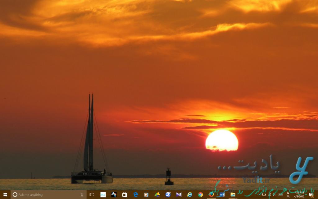 محو کردن موقتی آیکون های دسکتاپ (Desktop) در ویندوز