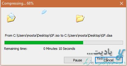 فشرده کردن فایل های ایمیج با استفاده از نرم افزار PowerISO