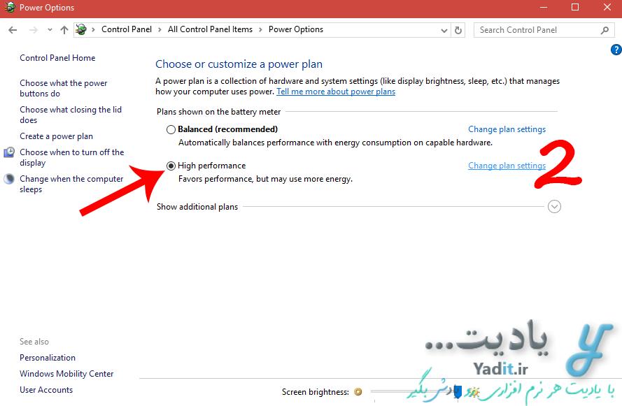 ورود به تنظیمات مربوطه در کنترل پنل ویندوز