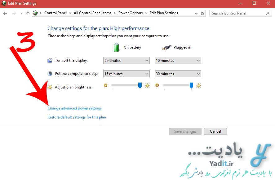 انجام تنظیمات مورد نظر برای جلوگیری از اسلیپ (Sleep) شدن خودکار لپ تاپ