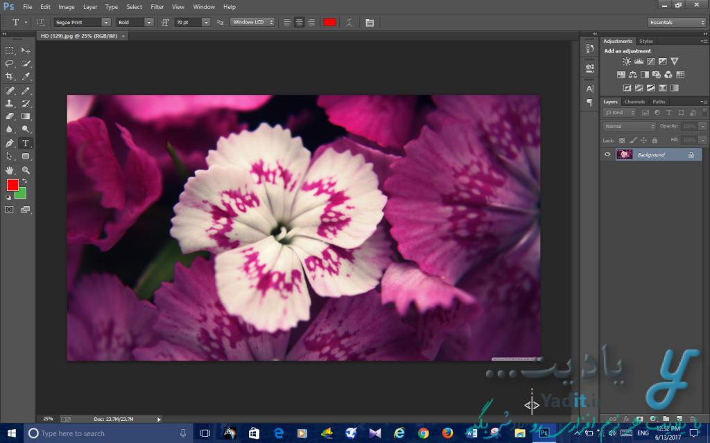 ایجاد آسان تصاویر خارج از مربع و مستطیل و به شکل دایره در فتوشاپ با پس زمینه شفاف (Transparent)