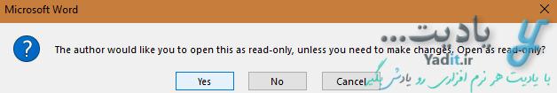 باز کردن سندهای Read Only شده