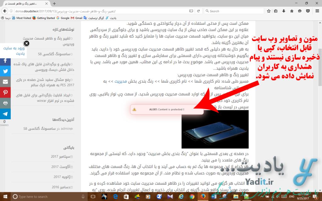 جلوگیری از کپی مطالب سایت وردپرسی با افزونه WP Content Copy Protection
