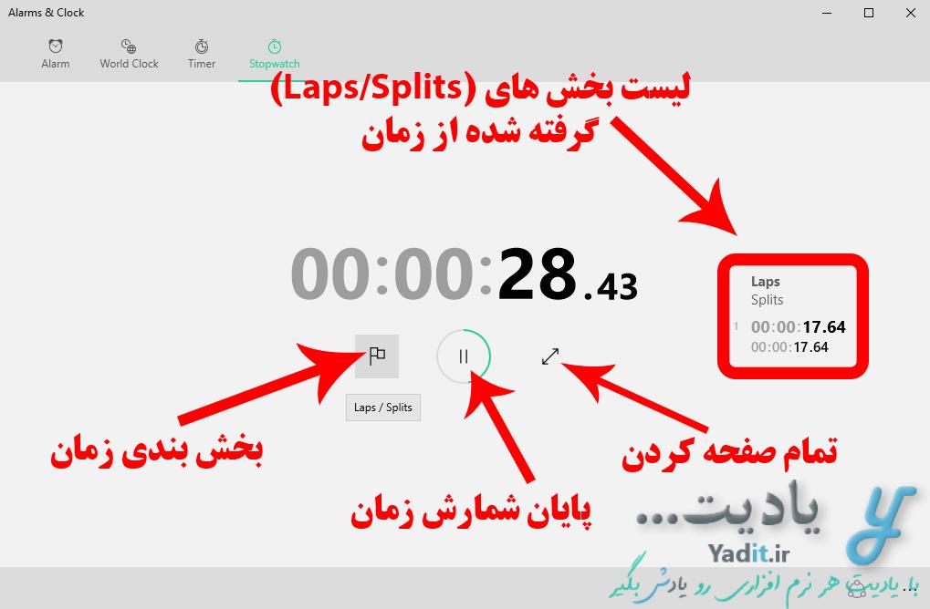 آشنایی با کرنومتر (Stopwatch) ویندوز و روش استفاده از آن
