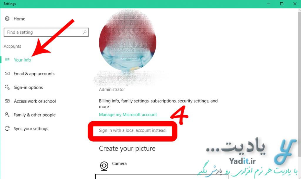 آموزش خروج از اکانت مایکروسافت (Microsoft Account) در ویندوز 10