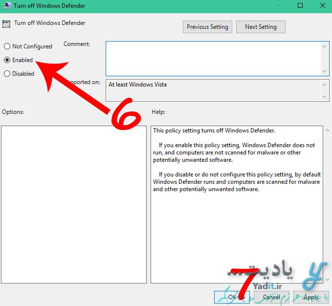غیر فعال سازی دائمی ویندوز دیفندر (Windows Defender) با کمک Local Group Policy ویندوز
