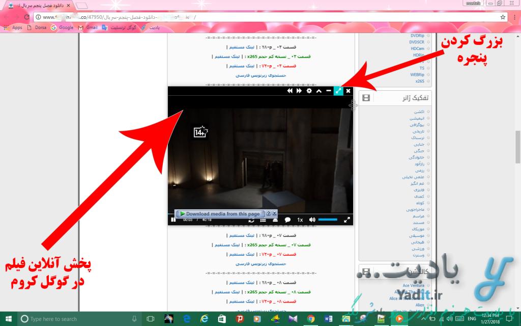 پخش آنلاین انواع فیلم در مرورگر گوگل کروم (Google Chrome)