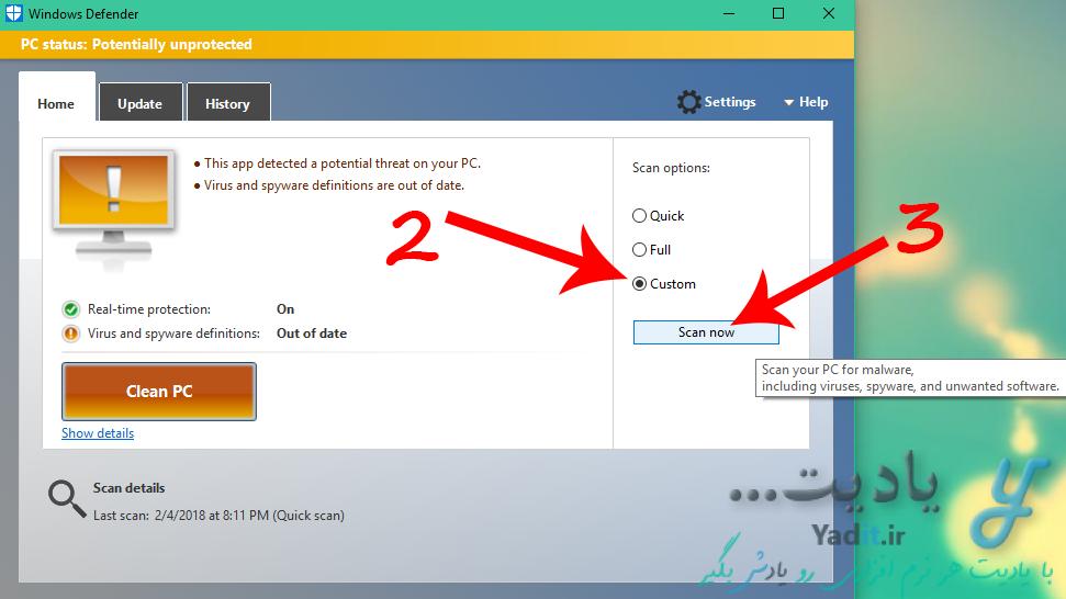 آموزش روش پاک کردن ویروس Shortcut فلش دیسک و کامپیوتر با استفاده از Windows Defender
