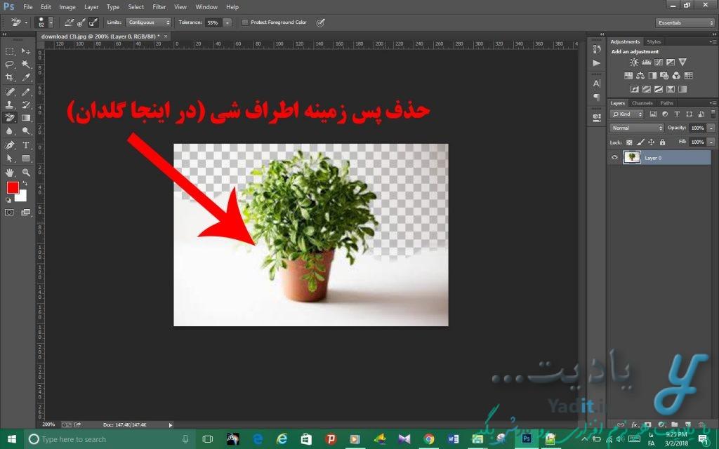 حذف آسان پس زمینه تصویر توسط ابزار Background Eraser