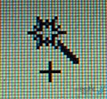 آیکون موس هنگام استفاده از ابزار انتخاب جادویی فتوشاپ