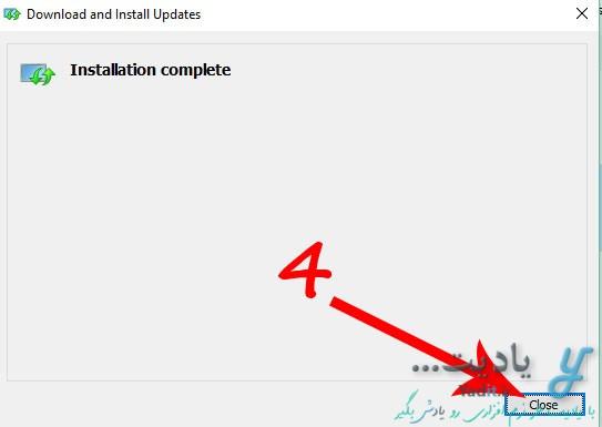 نصب موفقیت آمیز بسته زبان فارسی ویندوز 10