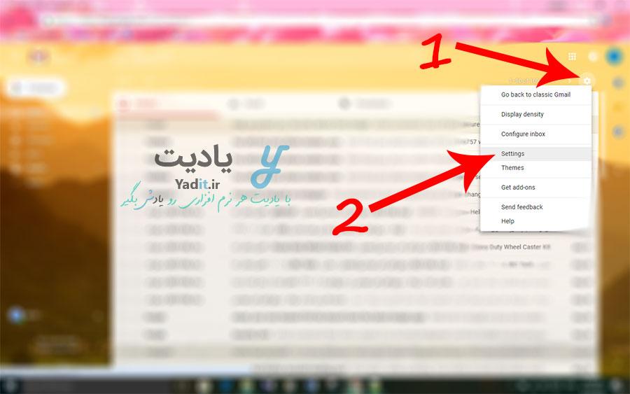 انجام تنظیمات مورد نیاز برای بازگرداندن ایمیل ارسال شده از طریق سرویس جیمیل