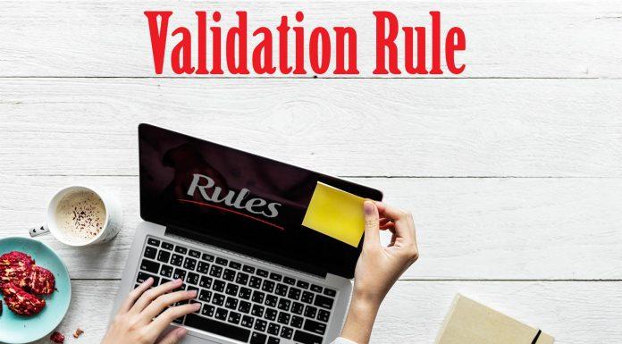 قانون اعتبار سنجی (Validation Rule)