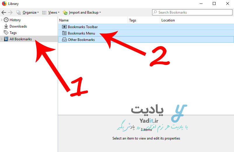بکاپ گرفتن و بازگرداندن نشان گذاری شده ها در فایرفاکس (Firefox Bookmark)