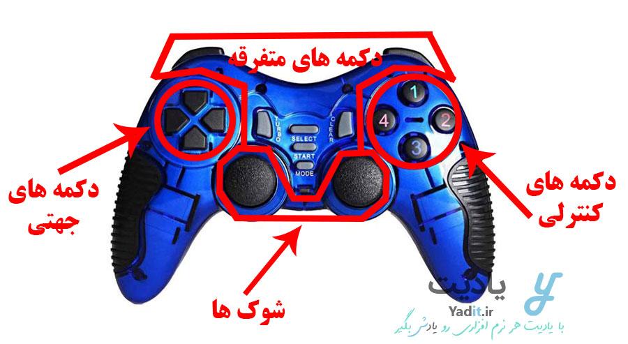 معرفی انواع دکمه های دسته بازی کامپیوتر